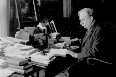 Samuel Chadwick at his desk.